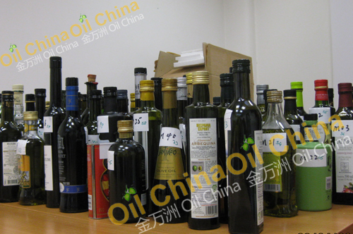olive oil competition samples